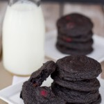 Triple Dark Chocolate Raspberry Cookies-1506